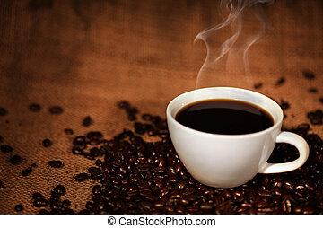 咖啡茶杯, 豆, 烤