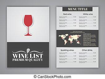 咖啡館, 菜單, 餐館, 設計, 酒