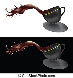 咖啡, 飛濺