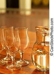 品嘗, 水, 相片, 細頸盛水瓶, 玻璃, 咖啡館, 酒, 釀酒廠, 垂直, 集合