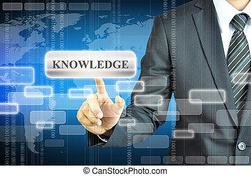 商人, 触, 知識, 簽署