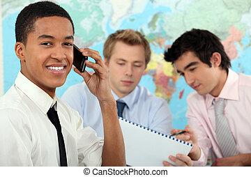 商人, 訓練, 年輕, 教育