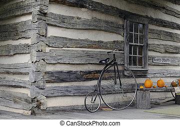 商店, 一般, 舊時, hi-wheel, 自行車