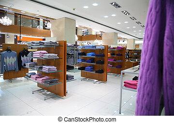 商店, 衣服, 架子