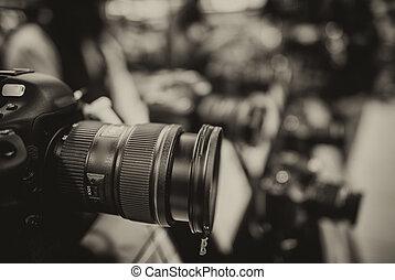 商店, 透鏡, 攝影, 現代, 照像機