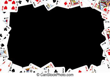 啤牌, 卡片, 做, 框架, 賭博