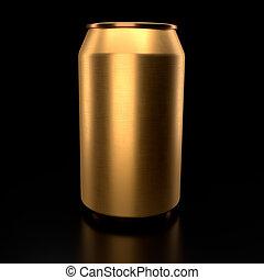 啤酒, 或者, 黑色, 罐頭, 蘇打, 被隔离, 背景。, 鋁, 金