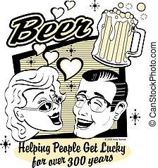 啤酒, 藝術, 夾子