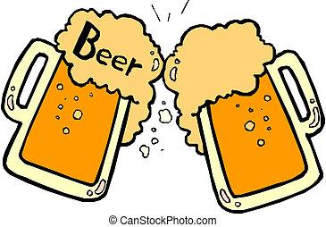 啤酒, 飛濺