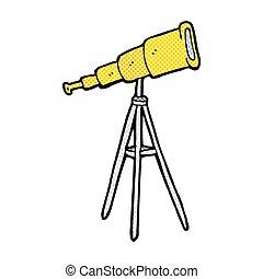 喜劇演員, 卡通, 望遠鏡