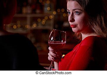 喝酒, 婦女, 酒