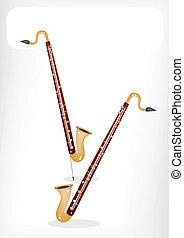 單簧管, 白色, 旗幟, 低音, 音樂