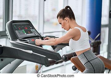 單調的工作, 适合, 跑, 體操, 婦女