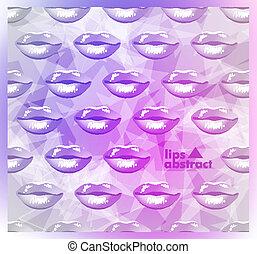 嘴唇, 背景, 美麗, 鮮艷, 現代