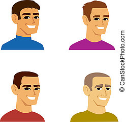 四, 肖像, 男性, avatar, 卡通