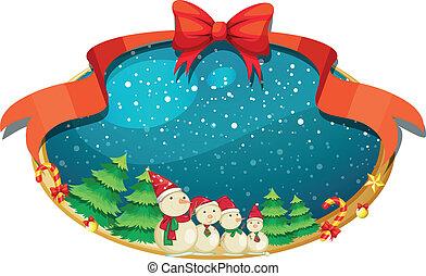 四, 舞台裝飾, 雪人, 聖誕節