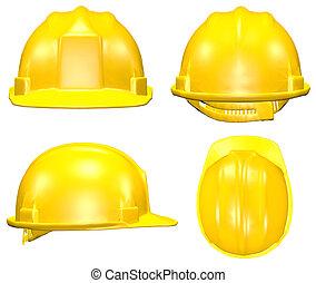 四, 鋼盔, 黃色, 見解