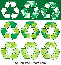 回收 標誌, 矢量