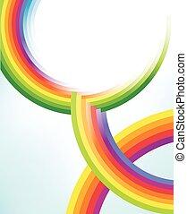 圈子, 彩虹, 摘要, 質地, 鮮艷