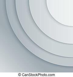 圈子, 摘要, 灰色, 紙, 矢量, 背景