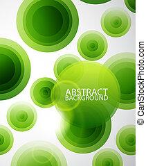 圈子, 摘要, 綠色的背景
