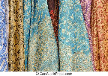 圍巾, 明亮地, 摘要, 圖像, 被給上色