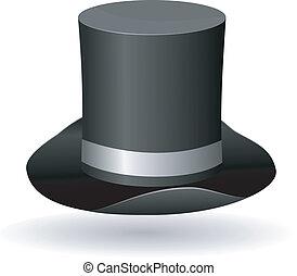 圓筒, 矢量, 帽子, 插圖