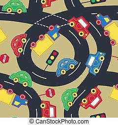 圖案, 交通, seamless, 運輸