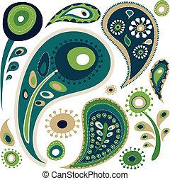 圖案, 佩斯利螺旋花紋呢, retro