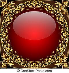 圖案, 球, 摘要, 背景, gold(en), 玻璃