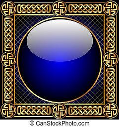 圖案, 球, 背景, gold(en), 玻璃