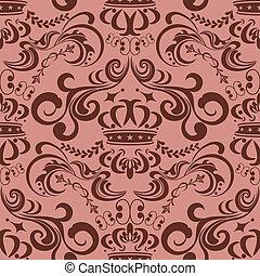 圖案, seamless, 粉紅色, 摘要