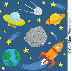 圖案, seamless, space., 卡通