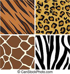 圖樣, 印刷品, seamless, tiling, 動物