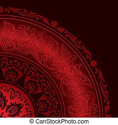 圖樣, 裝飾, 葡萄酒, 紅色, 框架, 輪