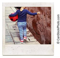 圖片, 球, 立即, 框架, -, 摘要, unrecognizable, 電影, 藏品孩子, 童年, 紅色, 看法