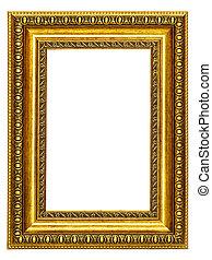 圖片, gold-patterned, 框架