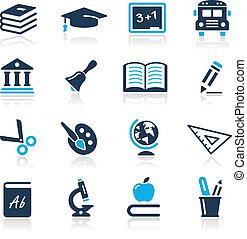 圖象, 天藍色, 系列, //, 教育