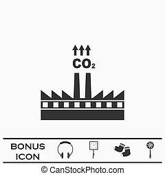圖象, 套間, 煙, 工廠, co2, 雲, 污染, 煙囪