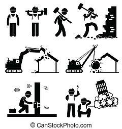 圖象, 摧毀, 爆破, 建築物