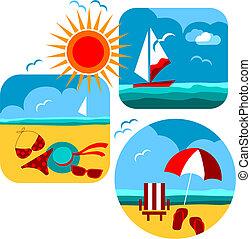 圖象, 海灘, 旅行, 夏天, 海
