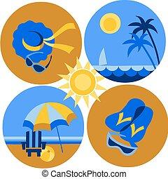 圖象, 海灘, -2, 旅行, 夏天, 海