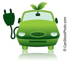 圖象, 電, 雜種, 汽車, 綠色