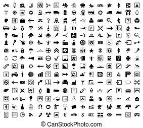 圖象, colour., 插圖, 矢量, 黑色, 彙整