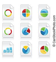 圖象, diagrammes., 插圖, 矢量, 各種各樣, 時間表