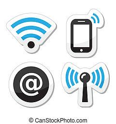 圖象, wifi, 網際網路, 网絡, 區域
