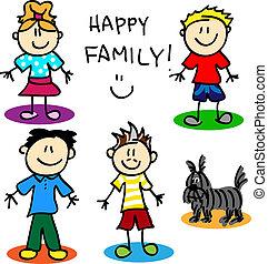 圖, 棍, 快樂, family-men