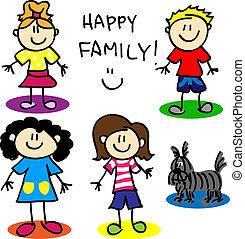 圖, 棍, 快樂, family-women