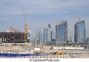 團結, 站點, arab, 建設, 酋長國, 迪拜