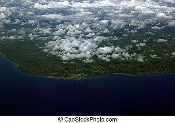 在上方, 飛機, cana, 看法, 多米尼加人, 空中, republic., punta